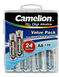 Camelion Digi Alkaline AA Battery in Container Box of 24 PCS