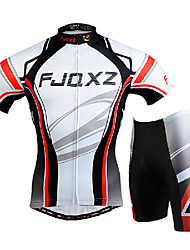 FJQXZ Cycling Jersey with Shorts Men's Short Sleeves Bike Clothing Suits Quick Dry Windproof Ultraviolet Resistant Front Zipper Wearable