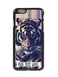 caso personalizado de diseño de metal caso del tigre para el iphone 6 más