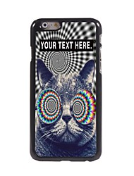 Personalized Case Cat Design Metal Case for iPhone 6 Plus