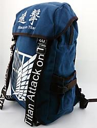 Tasche Inspiriert von Attack on Titan Cosplay Anime Cosplay Accessoires Tasche / Rucksack Blau  Leinwand / Nylon Mann / Frau