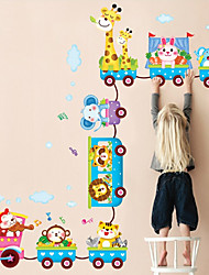 animais diy adesivos de parede desenhos animados treinar quarto lavável decalques da parede do miúdo