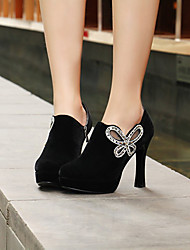 Red Peony Women's Chunky Heels Boots