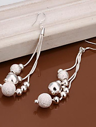 Lucky Doll 925 Silver Beads Long Earings