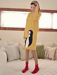 Maternity's Fashion Leisure Penguin Printing Long Sleeved Maternity Nursing Dress