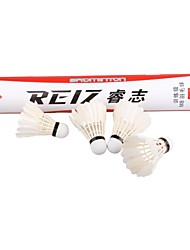 nieuwe Reiz 12st / veel hoge kwaliteit 12st opleiding witte blauwgroen veer badminton shuttles groothandel m8
