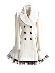Women's Lady Double-Breasted Overcoat