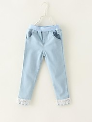 Girl's Solid Jeans,Cotton / Denim Winter / Spring / Fall Multi-color
