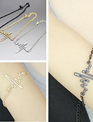 shixin® 18 centímetros pulseira de charme europeu liga das mulheres (ouro, prata&preto) (1 pc)