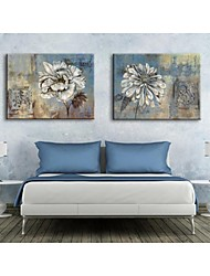 Personalized Canvas Print Retro Flowers 35x50cm  40x60cm  50x70cm  Framed Canvas Painting Set of 2