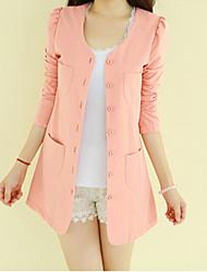 kissties fashion ronde kraag 3/4 mouw blazer jas