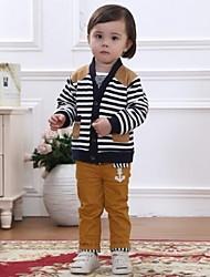 Kids' New Fashion Style Long Sleeve Stripe Clothing Sets