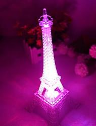 comodo romántica luz monocromática colorida torre Eiffel llevó luz de noche (color al azar)