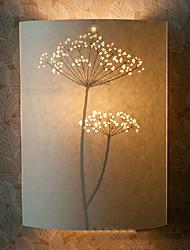Applique 1 lumière nouveauté modèle d'arbre parchemin abat-jour 220v