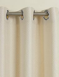 (dois painéis) jacquard bege sólida cortina de poupança de energia neoclássico