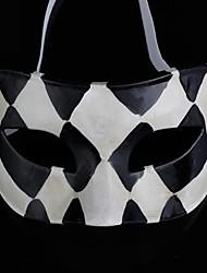 Back-to-alten Jazz schwarzen und weißen Gitter ps halbe Gesicht Halloween-Party-Maske
