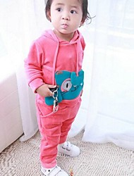 Girls Infant Hooded Sweat Suits