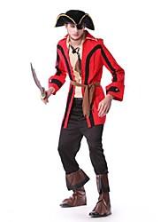 pirate médiéval manteau rouge costume de Halloween pour hommes