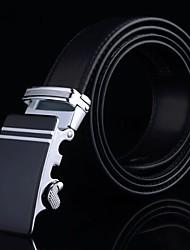 genuinas de la correa de cuero de negocios automáticos cinturones de hebilla de los hombres ligas hombre regalo