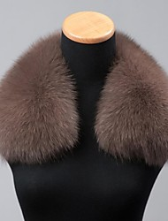 Men/Women Fox Fur Accessory , Fleece Lining/Removable Fur Collar