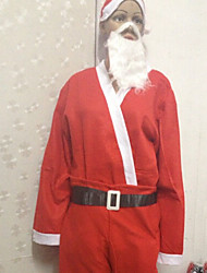 Red Christmas Papai Noel Fantasias (3 peças)