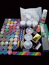 134pcs arte pro de uñas conjunto de herramientas de punta polvo acrílico manicura