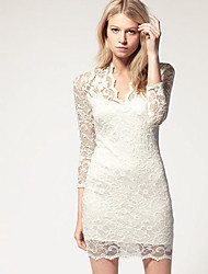 Women's Dresses , Lace Sexy/Casual/Lace Long Sleeve KaMan