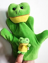 Lovely Frog Plush Frog Hand Puppets  Kids Glove  Play Toy