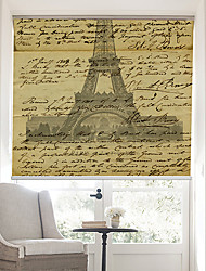 Retro Words Page With Effel Tower Background Roller Shade