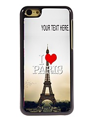 Personalized Case I Love Paris Eiffel Tower Design Metal Case for iPhone 5C