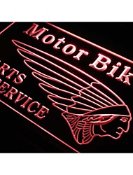 s229 Motor Bike Parts Services Neon Light Sign