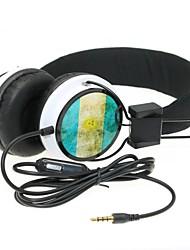 WZS- Ergonomic Hi-Fi Stereo Headphone with Mic Microphone -Argentina Flag - Black