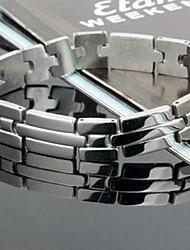 personnalité de la mode en titane acier argent bracelets de stries des hommes