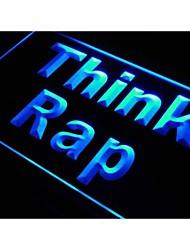 S198 pense signe rap dj de musique de rappeur studio de néon de lumière