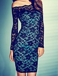 Hou&Tong® Women's Slim Sexy Lace Evening Club Dress