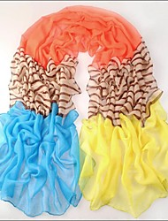 Summer  Red Yellow Blue Stripe Bali Yarn Scarf Air Conditioning Cape Dual-Use Ultra Long Female
