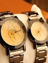 AIOLIA Couples' Fashionable Watches Alloy Quartz Watch White & Black