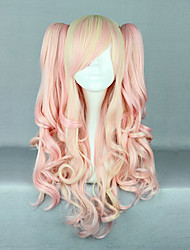 MCOSER Baby Pink and Cream Curly Pigtails 70cm Sweet Lolita Wig