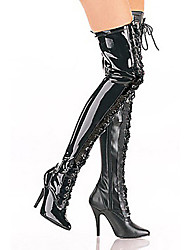 Boots Festival/Holiday Halloween Costumes Black Halloween / Carnival / New Year Female Polyurethane Leather
