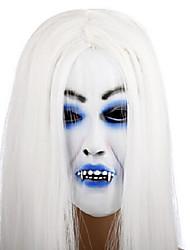 travestimento di Halloween spaventoso maschera per capelli bianchi