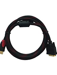 6FT HDMI to DVI Cable Cord Converter for PC Mac BluRay DVD HDTV TV Xbox 360 PS3