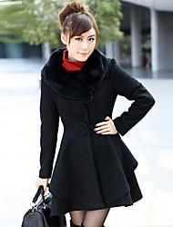 Women's Solid Color Tweed Coats With Belt (More Colors)