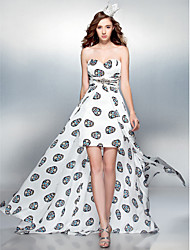 Cocktail Party / Prom Dress - Print Plus Sizes / Petite Sheath/Column Sweetheart Court Train Chiffon