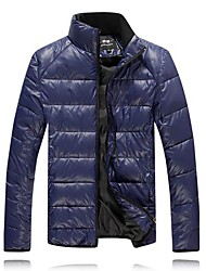 мужская чистый цвет хлопка пальто