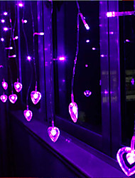 LED String Light 120 Lights Modern Heart Shape Purple Plastic 2m 220V