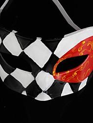 Back-to-alten Jazz schwarz und weiß Diamantgitter ps halbe Gesicht Halloween-Party-Maske