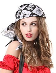 pirates en noir et blanc squelette hip hop treillis casque de partie de Halloween