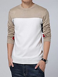 Men's Casual Round Collar Knit Sweater