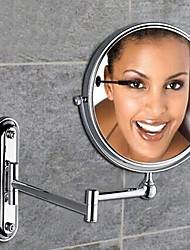 360 grados de rotación de chapado de aumento 2x acabado cromado de 8 pulgadas de la pared de latón macizo montaje espejo de aumento