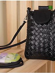 juntar nova couro malha sytle zip saco de telefone celular da mulher ® para iPhone 4 / 4S